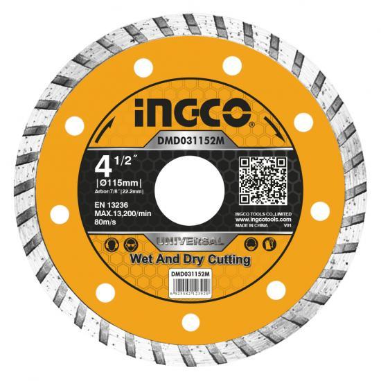 Ingco 115mm 22.2mm Turbo Elmas Disk